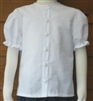 Girl Blouse Classic White Seersucker Cotton size 7