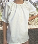 Girl Peasant Blouse Elegance Ivory cotton with lace size 10