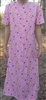 Girl A-line Loungewear Dress Knit Floral Cotton size 12