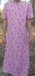 Girl A-line Loungewear Dress Pink Knit Floral Cotton size 10