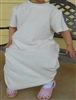 Girl A-line Loungewear Dress Knit Cotton Ivory Cream size 14