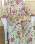 Girl A-line Loungewear Dress Knit Floral Cotton size 6 X-long