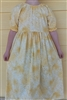 Girl Peasant Dress Sunny Day yellow floral cotton size 10 X-long