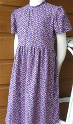 Girl dress cotton knit Purple Floral size 4 X-long