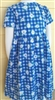 Girl Knit Dress cotton Blue Garden floral size 8