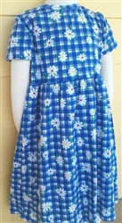 Girl Knit Dress cotton Blue Garden floral size 4