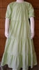 Girl Tiered Dress Green & white seersucker check cotton size 10 X-long