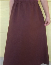 Girl A-line Skirt Light Brown thick warm cotton size 8