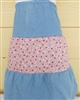 Girl Skirt Tiered Patchwork Blue & White Floral size XS 4 5