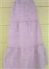 Girl Tiered Skirt Tan floral cotton size L 12 14