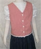 Girl Vest V-neck Button Front all sizes