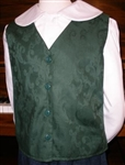Girl Vest V-neck Button Hunter Green size 12