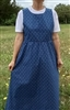 Ladies Jumper Pastel Sage Green Floral cotton with Pockets & Ties M 10 12 Tall
