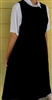 Ladies Jumper with Gathered Skirt Light Pink Vines cotton/poly 2X 26 28