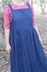 Ladies Denim & Other Fabrics Bib Jumper with Gathered Skirt all sizes