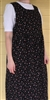 Ladies Jumper with Gathered Skirt Black Floral Corduroy cotton L XL 16 18