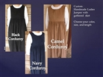 Ladies Jumper Corduroy with Gathered Skirt all sizes