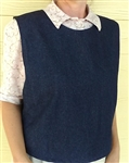 Ladies Vest Slip-on Crushed Cotton Dusty Blue size M 10 12