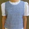 Ladies Vest Slip-on Chambray Patchwork with Lace M 10 12