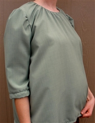 Maternity Peasant Blouse Sage green polyester 1X 22 24