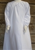 Girl Loungewear Gown Dress Solid White or Light Blue Flannel cotton with bow