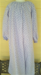 Girl Loungewear Gown Dress Purple Lavender Floral Flannel cotton size M 7/8 X-long