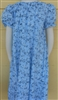Girl Loungewear Summer Gown Dress Blue Floral poly cotton size 7/8