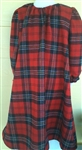 Girl Loungewear Gown Dress Tahoe Red Plaid Flannel cotton size S 5 6