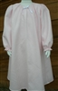 Girl Loungewear Gown Dress Pink Pique cotton with bow size XL 14 16 X-long