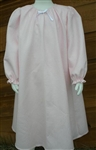 Girl Loungewear Gown Dress Pink Pique cotton with bow size 14 16 X-long