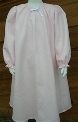 Girl Loungewear Dress Pink Pique cotton with Bow size M 7/8