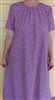 Ladies Nightgown Summer Blue plaid cotton M 10 12