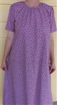 Ladies Nightgown Pastel Blue cotton pique L 14 16