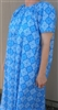 Ladies Nightgown Peacock Medallion blue floral cotton 2X 26 28