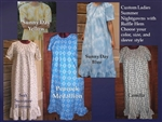 Ladies Summer Nightgown with Ruffle Hem all sizes