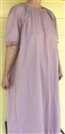 Ladies Nightgown with Ruffle Tan Floral cotton 1X 22/24 Tall