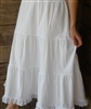 Ladies Tiered Petticoat Cotton White with Lace S 4 6 8 X-Full