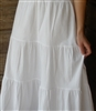 Ladies Tiered Petticoat Slip Cotton White Batiste S 6 8 Petite