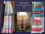 Ladies Skirt 5 Tiered Cotton Custom Patchwork all sizes