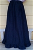 Girl 6 Gore Skirt Jean Navy Blue Denim with Ruffle size M 8 10