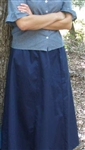 Ladies 6 Gore Skirt Navy Blue Polyester 1X 22 24 Tall