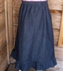 Girl A-line Skirt Navy Denim with Ruffle size 3