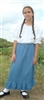Girl A-line Skirt Light blue Denim with Ruffle size 3 X-long