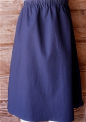 Girl A-line Skirt Navy Blue Twill size 8