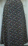 Ladies A-line Skirt Black Floral Polyester 1X 22 24
