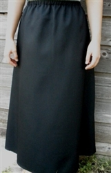 Ladies A-line Skirt Black Polyester 1X 22 24