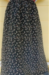 Ladies A-line Skirt Navy Blue Floral Polyester M 10 12
