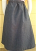 Girl A-line Skirt Chambray Dobbie Denim size 12