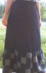 Ladies A-line Skirt with Long Ruffle custom all sizes