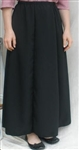 Ladies 6 Gore Skirt Black Polyester S 6 8